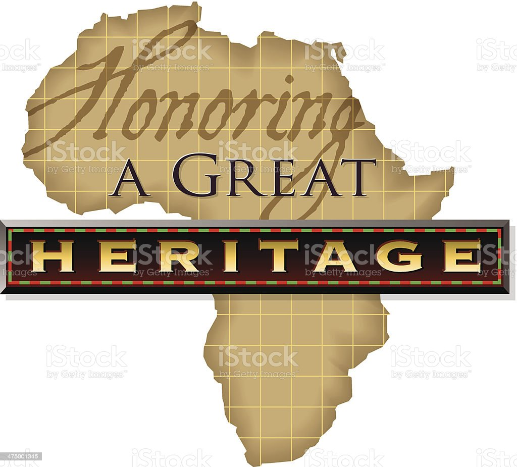Heritage Heading vector art illustration