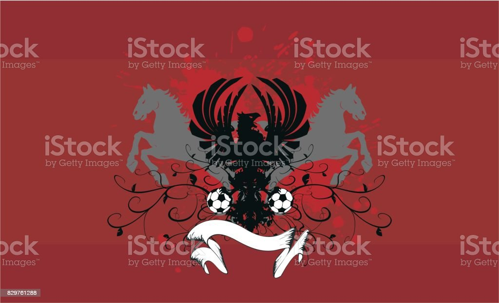 herladic crest eagle coat of arms  futbol soccer background