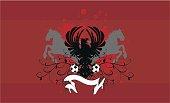 herladic crest eagle coat of arms  futbol soccer background