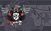 herladic crest eagle futbol soccer background