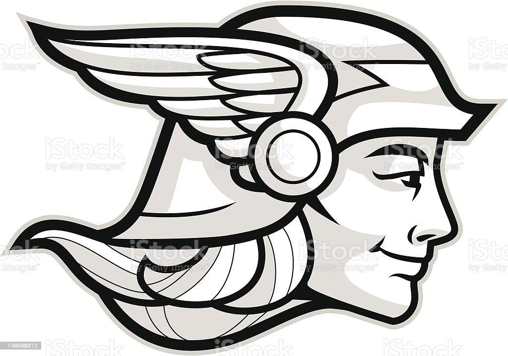 Hermes vector art illustration