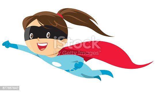 Vector hero girl