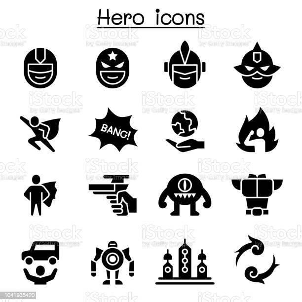 Hero icon set vector id1041935420?b=1&k=6&m=1041935420&s=612x612&h=h1xas3vfvwnbe3ubdcnytph0dfhoe5d6rdefzdbjz3o=