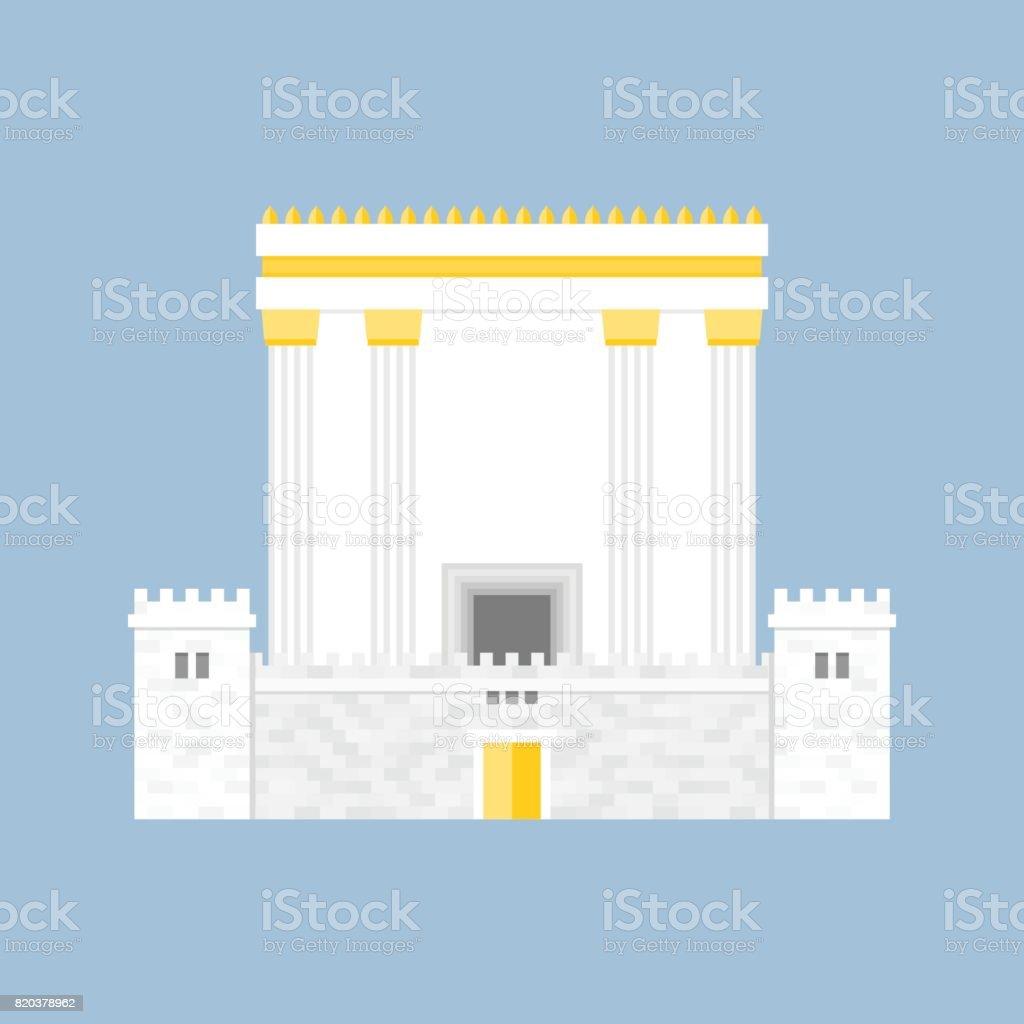 Herod's Temple vector art illustration