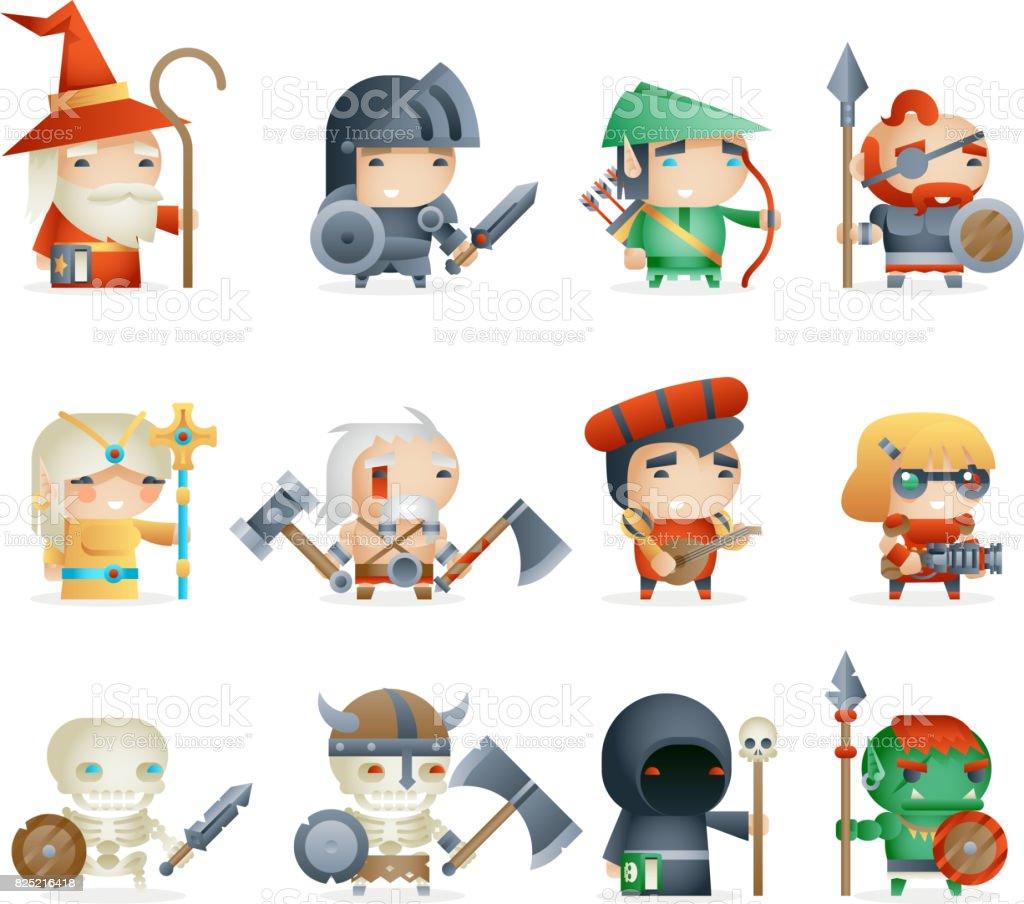 Heroes villains minions fantasy rpg game character vector icons set heroes villains minions fantasy rpg game character vector icons set vector illustration royalty free heroes stopboris Gallery