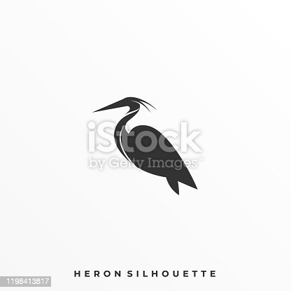 istock Heron Pose Illustration Vector Template 1198413817