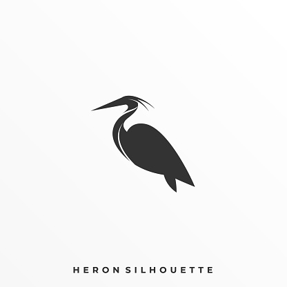 Heron Pose Illustration Vector Template