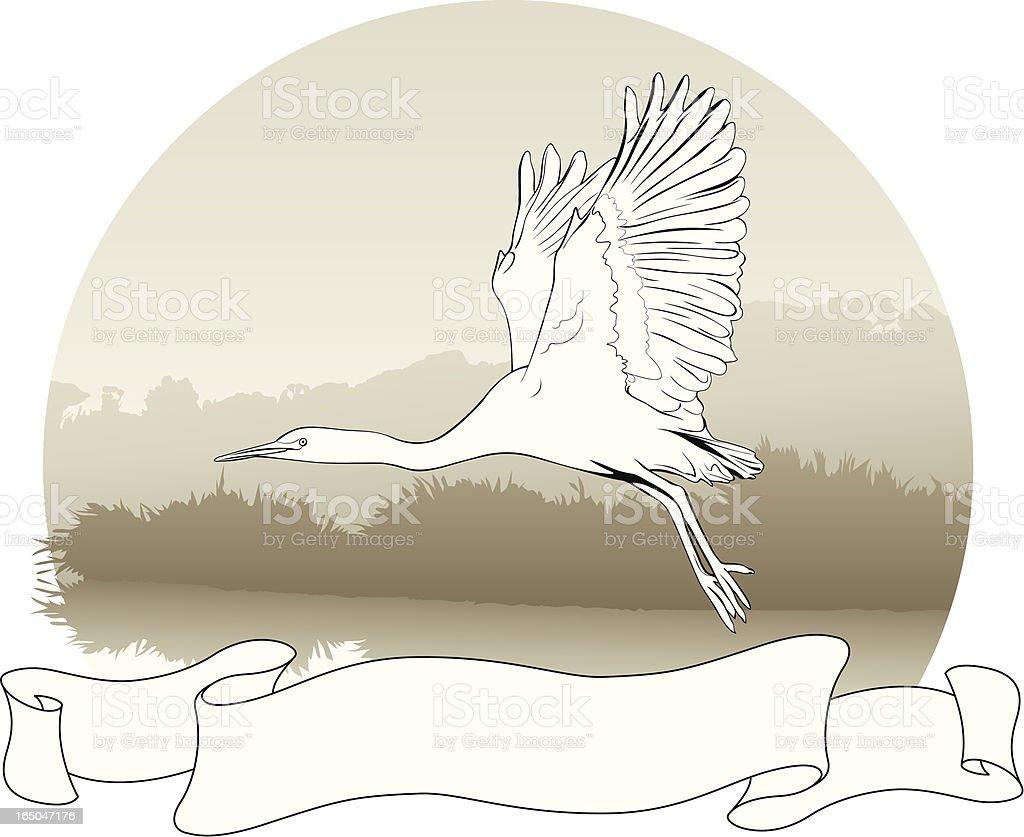 Heron Scroll royalty-free stock vector art
