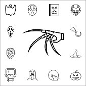 Herrible glove icon. Set of Halloween icons