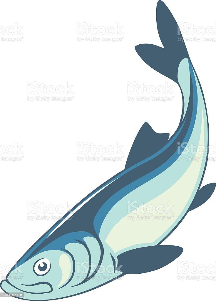 Arenque pescado - ilustración de arte vectorial