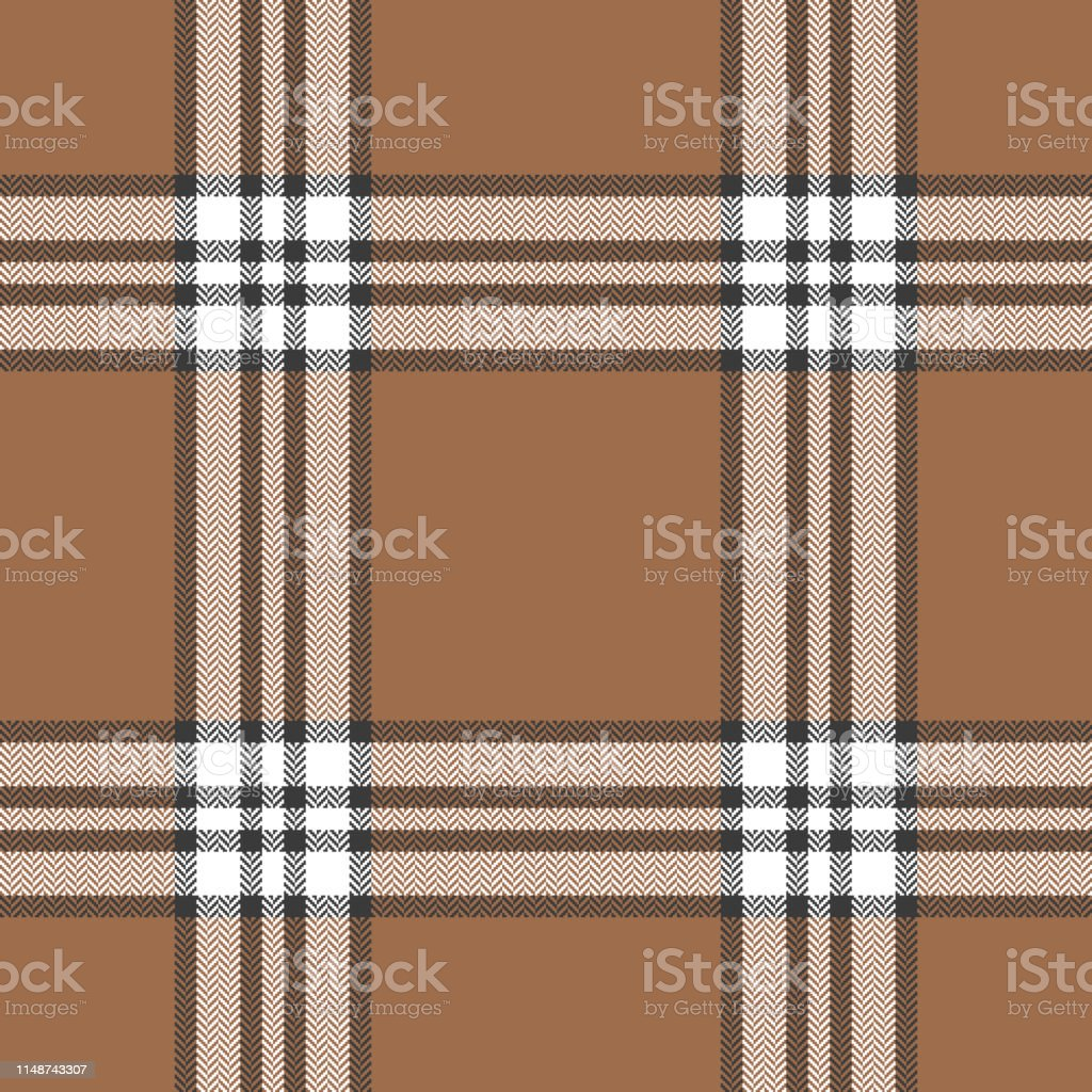 Herringbone check plaid pattern seamless vector graphic. Scottish...