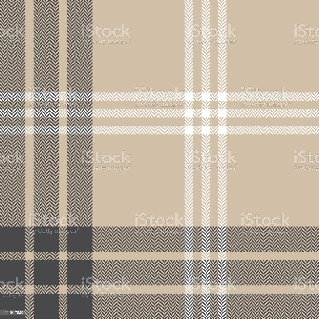 Herringbone check plaid pattern seamless vector graphic. Tartan...
