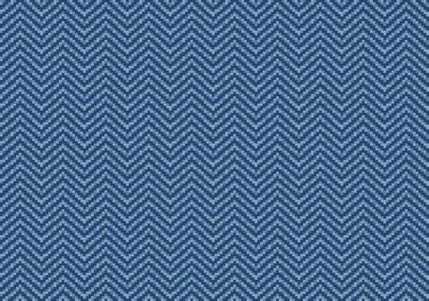 heringbone muster blue jeans denim - pastellhosen stock-grafiken, -clipart, -cartoons und -symbole