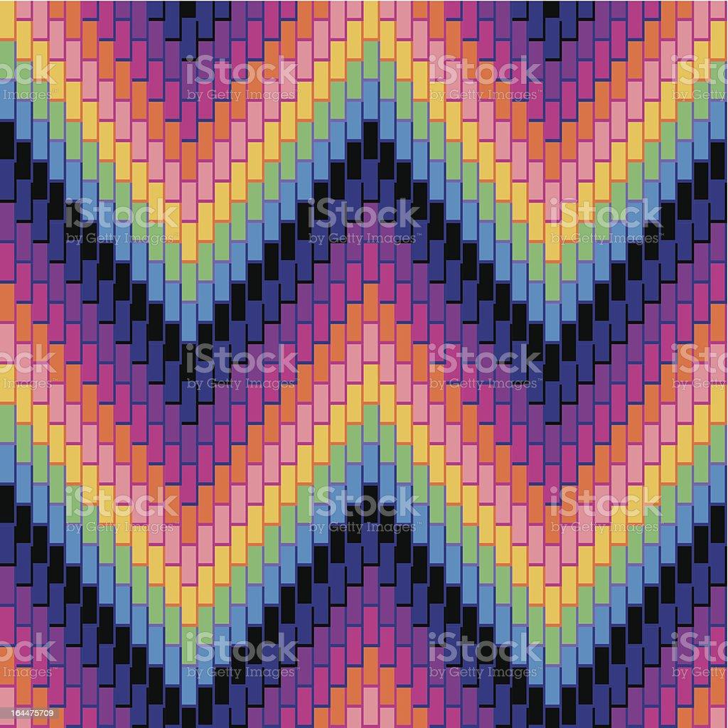 Herringbone Pattern Multi royalty-free stock vector art