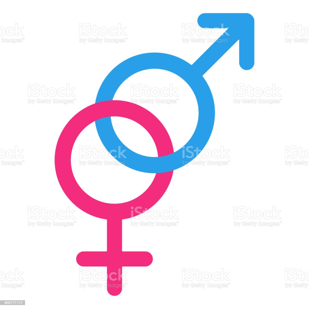 Heterosexuality Glyph Interlocked Female And Male Gender Signs