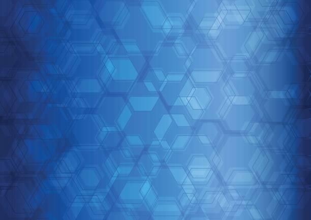 hexagon abstract background - dark blue stock illustrations
