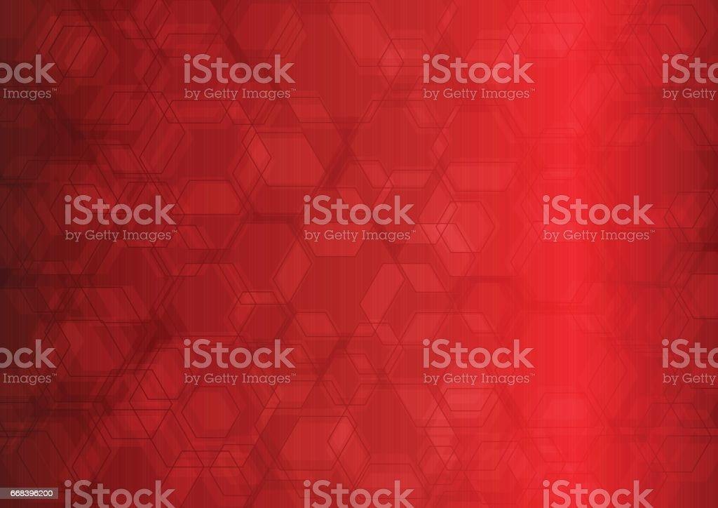 Hexagon Abstract Background vector art illustration