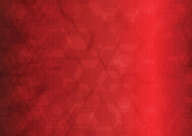 ilustrações de stock, clip art, desenhos animados e ícones de hexagon abstract background - vr red background