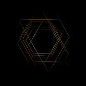 Hexagon. Abstract banner. Geometric background.EPS 10