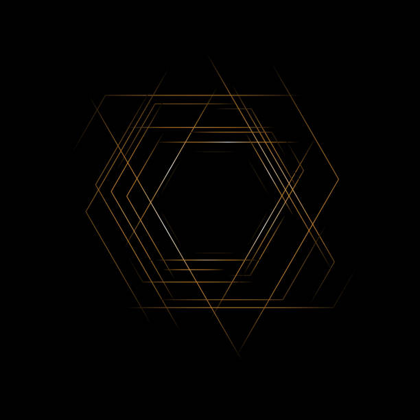 六 角。抽象橫幅。幾何背景。EPS 10向量藝術插圖