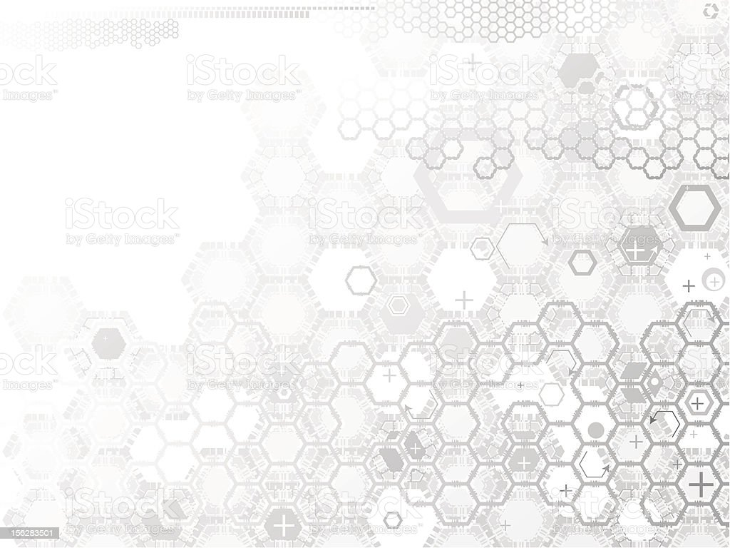 Hexagon abstraction. vector art illustration