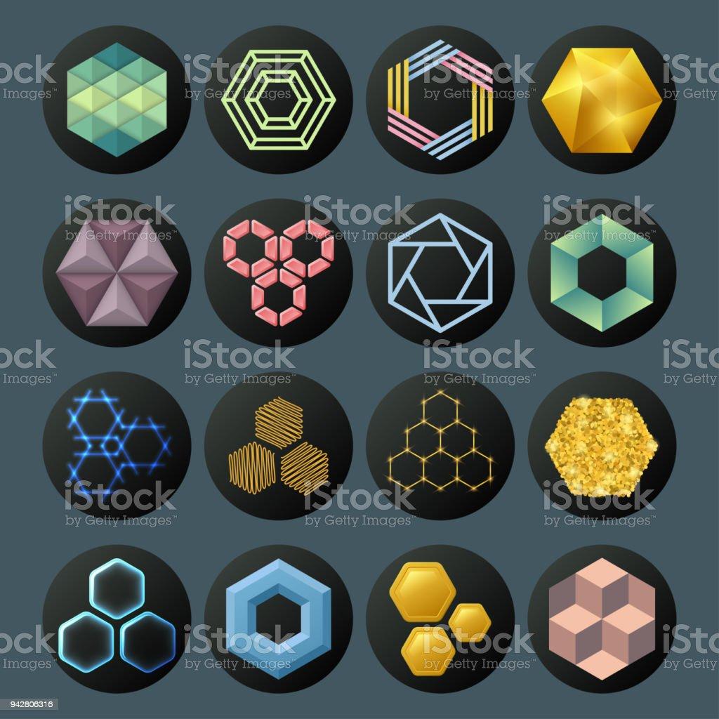 Sechseckdesign Dass Geometrische Elemente Waben Abstrakte ...