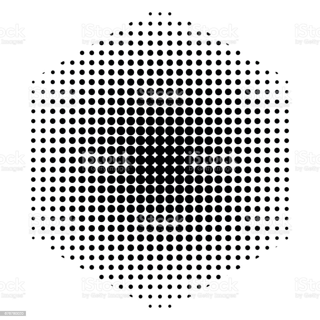 Hexagone Dot Design De Fond En Noir Et Blanc Cliparts Vectoriels