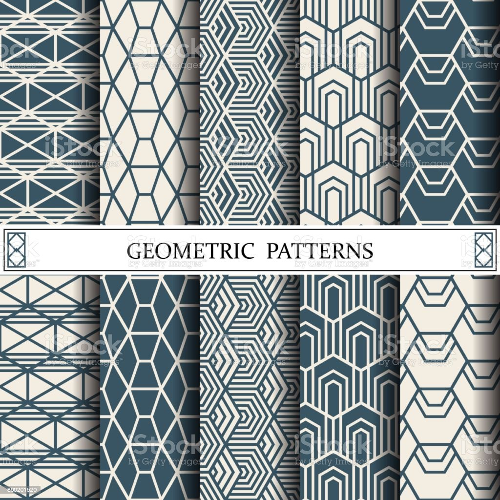 Altigen Geometrik Vektor Desen Desen Dolgularini Web Sayfasi Arka