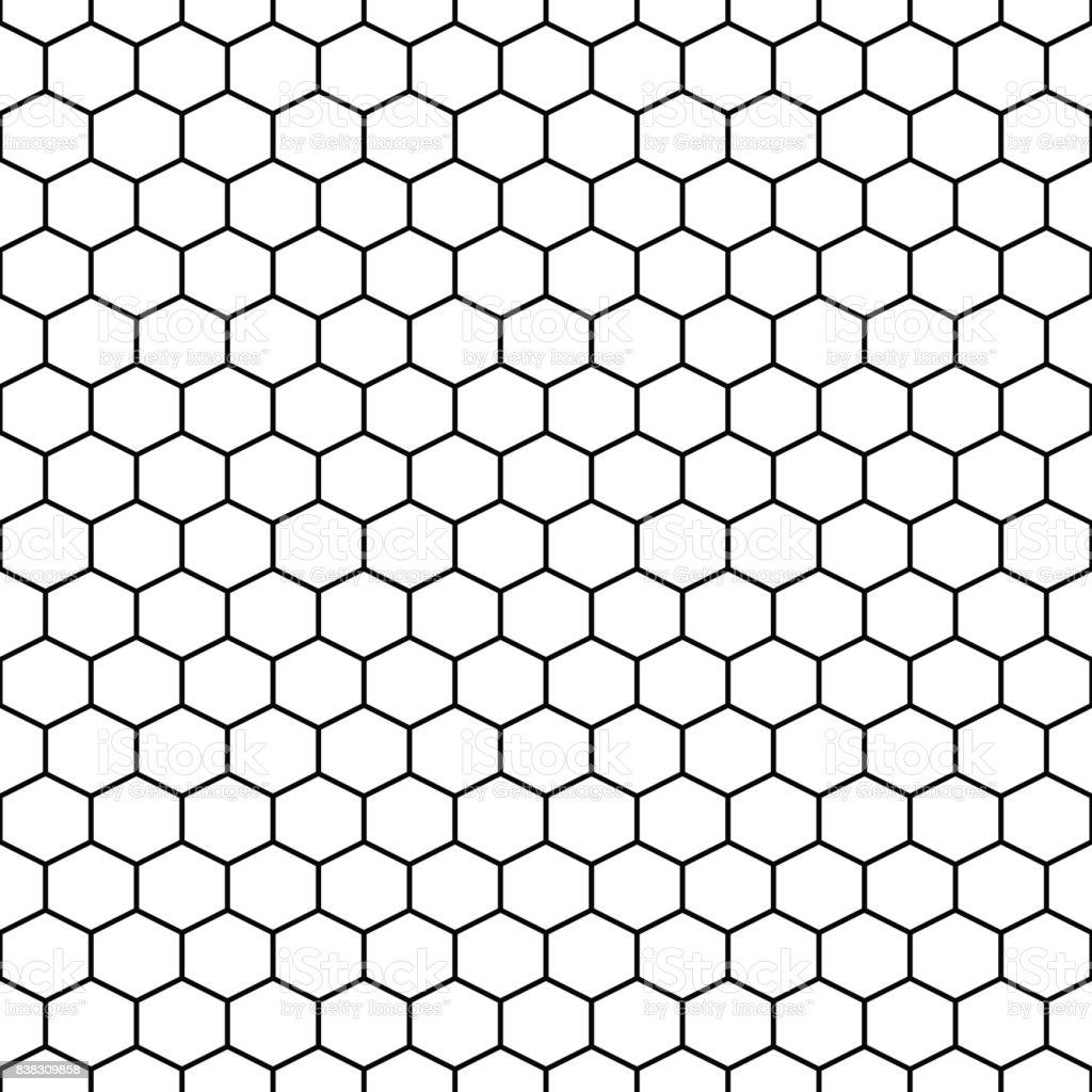 Hexagon grid cells vector seamless pattern vector art illustration