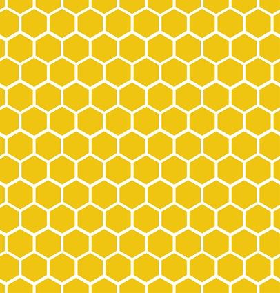 Hexagon honeycomb seamless background. Geometric decorative simple texture. Vector illustration.
