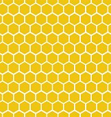 Hexagon honeycomb seamless background. Geometric decorative simple texture. Vector illustration.