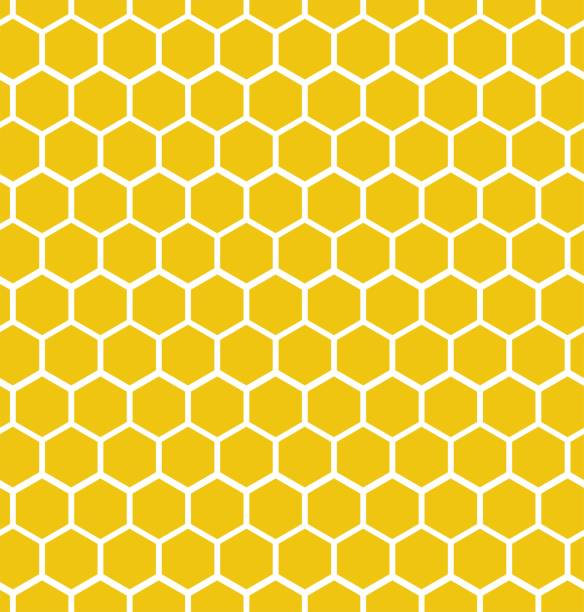 Hexagon honeycomb seamless background. Geometric decorative simple texture. Vector illustration. Hexagon honeycomb seamless background. Geometric decorative simple texture. Vector illustration. hexagon stock illustrations