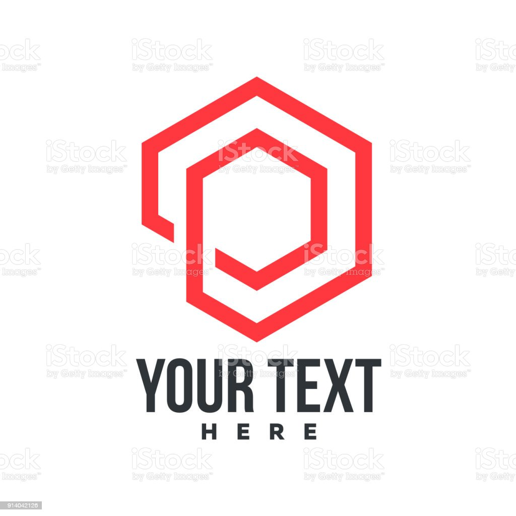 P Hexagon Icon Stock Vector Art More Images Of Abstract 914042126