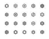 Geometric Shape, Hexagon, Six, Logo, Design Concept, Creative Symbol, High Quality, Icon, Vector and Illustration