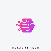 Hexagon Illustration Vector Design Template. Suitable for Creative Industry, Multimedia, entertainment, Educations, Shop, and any related business.