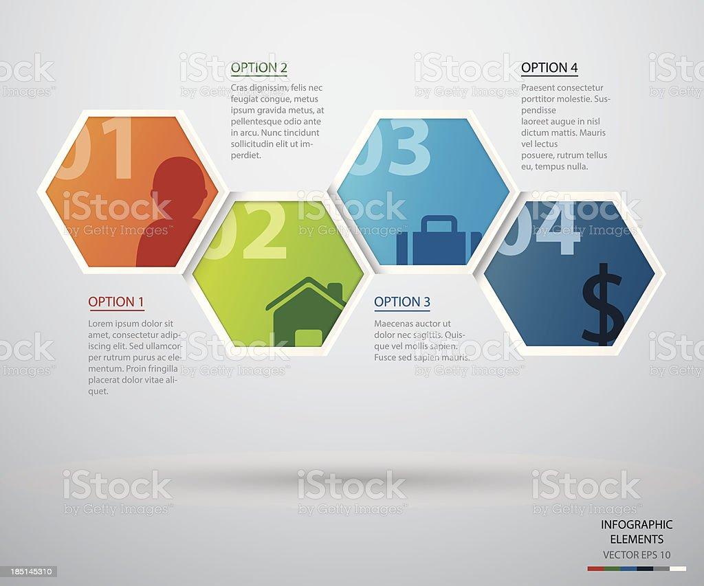 Hexagon infographic vector art illustration