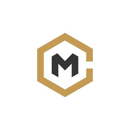 Hexagon Initial / Monogram CM design inspiration