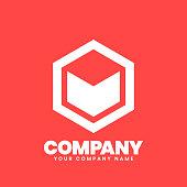 istock Hexagon Logo sign 1180432546