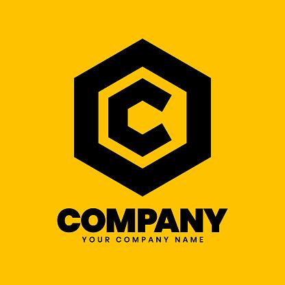 C Hexagon Logo sign