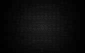 Hexagon metal mesh. Dark grid texture. Geometric design with shadow and light. Industrial background with cells. Modern futuristic backdrop for web, poster, brochure. Vector illustration.
