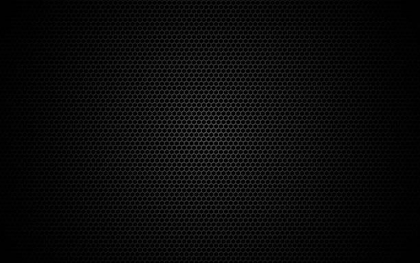 Hexagon metal mesh. Dark grid texture. Geometric design with shadow and light. Industrial background with cells. Modern futuristic backdrop for web, poster, brochure. Vector illustration Hexagon metal mesh. Dark grid texture. Geometric design with shadow and light. Industrial background with cells. Modern futuristic backdrop for web, poster, brochure. Vector illustration. metal stock illustrations