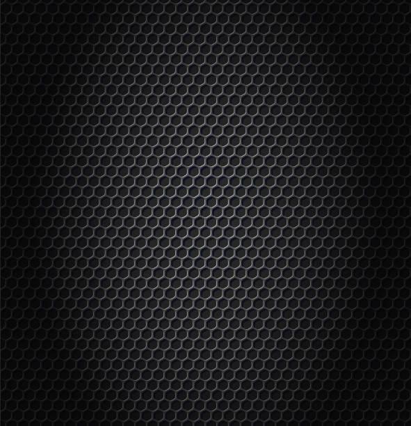 hexagon metalic texture vector art illustration