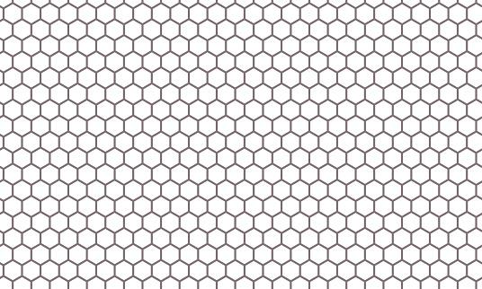 Hexagon net pattern vector background. Hexagonal seamless grid texture