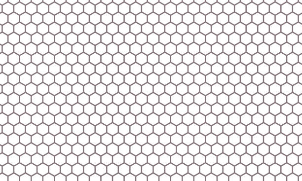 Hexagon net pattern vector background. Hexagonal seamless grid texture Hexagon net pattern vector background. Hexagonal seamless grid texture hexagon stock illustrations