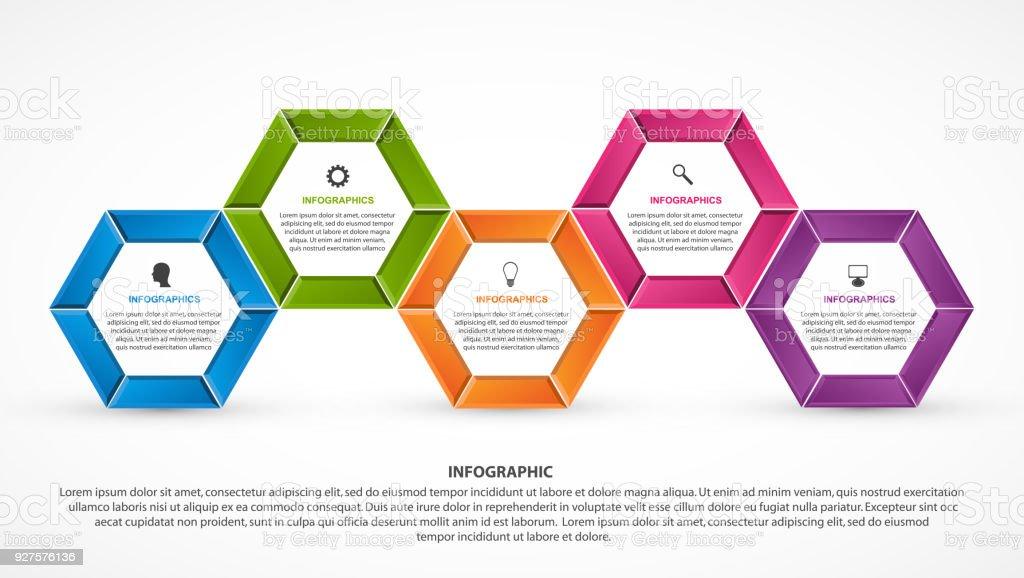 Sechseckoptioneninfografikenvorlage Infografiken Für ...