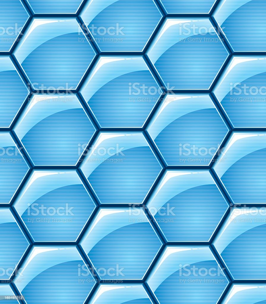 Hexagon Pattern - Seamless Tile royalty-free stock vector art
