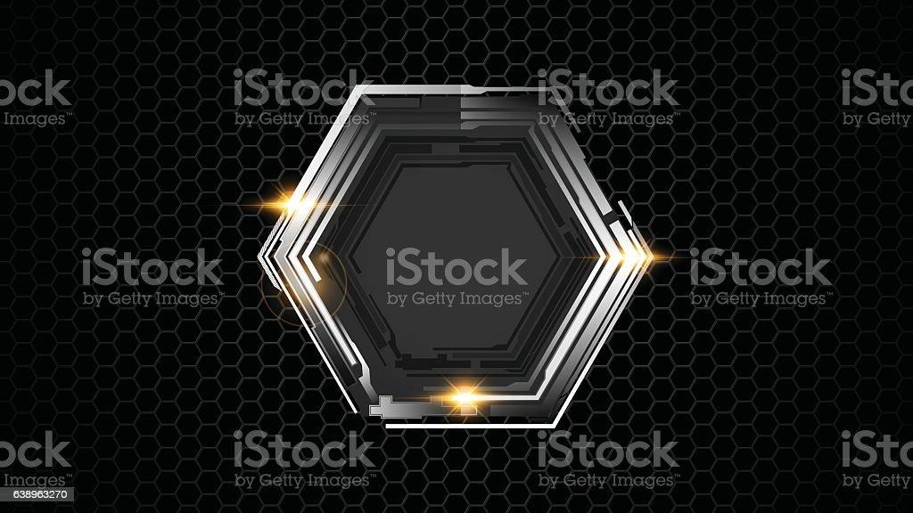 hexagon pattern tech sports concept background vector art illustration