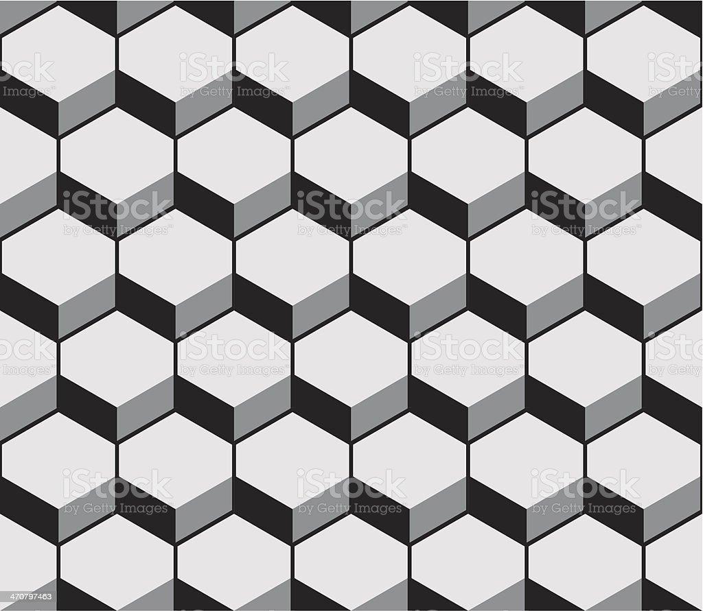 Hexagon pattern texture royalty-free stock vector art