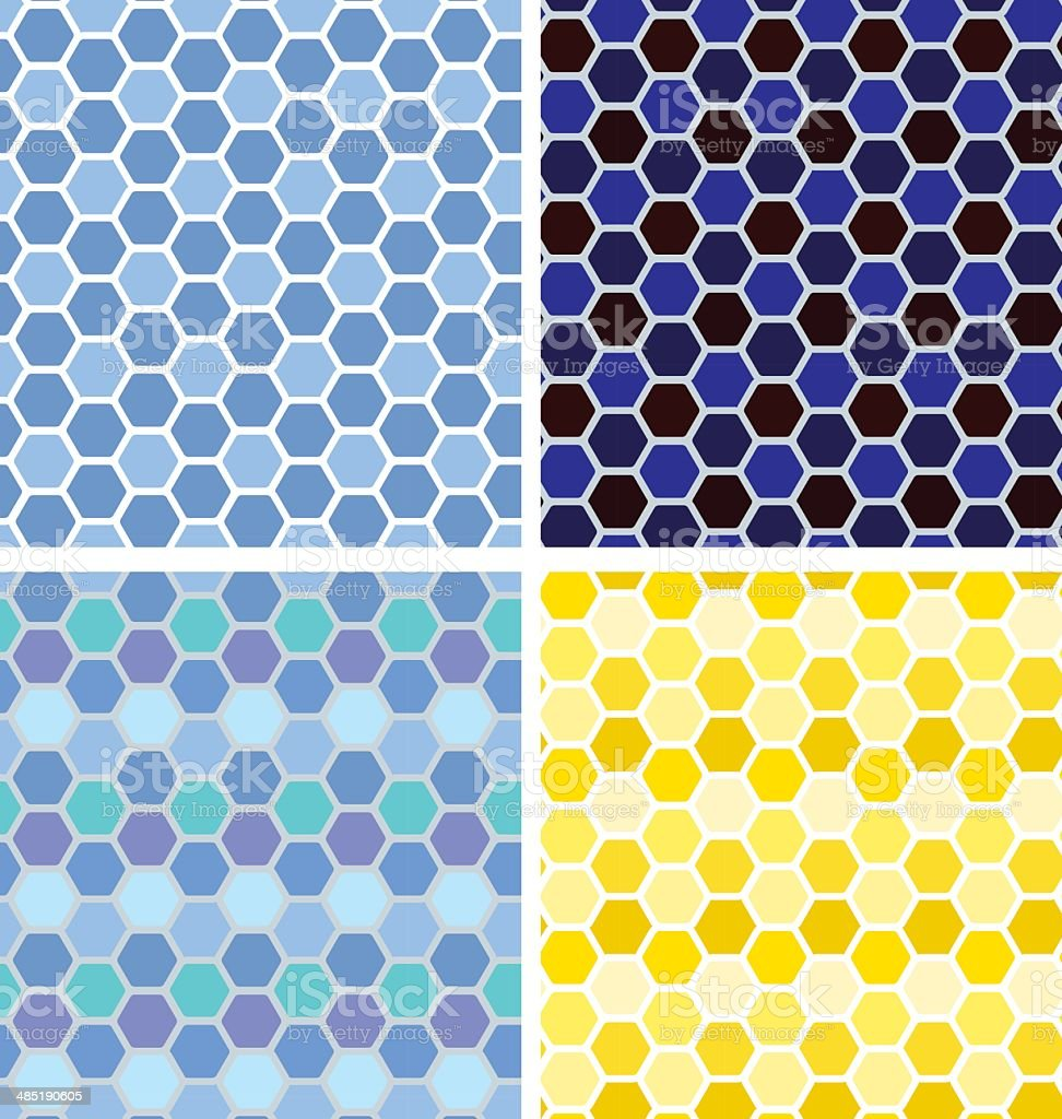 Hexagon seamless background vector art illustration