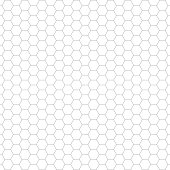 Vector of Hexagon Seamless Pattern Background